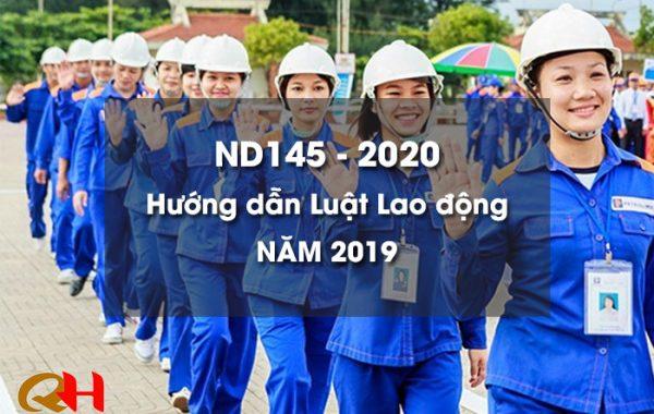 ND145 – 2020 hướng dẫn Luật Lao động năm 2019