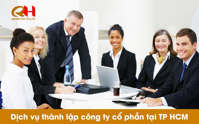 Dịch vụ thành lập công ty cổ phần tại TP HCM