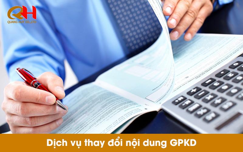 Dịch vụ thay đổi giấy phép kinh doanh tại TPHCM