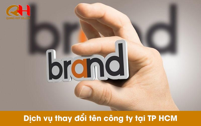 Dịch vụ thay đổi tên doanh nghiệp giá rẻ tại TPHCM
